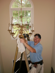 Chandelier Cleaning in Roanoke, VA by Larry Puckett